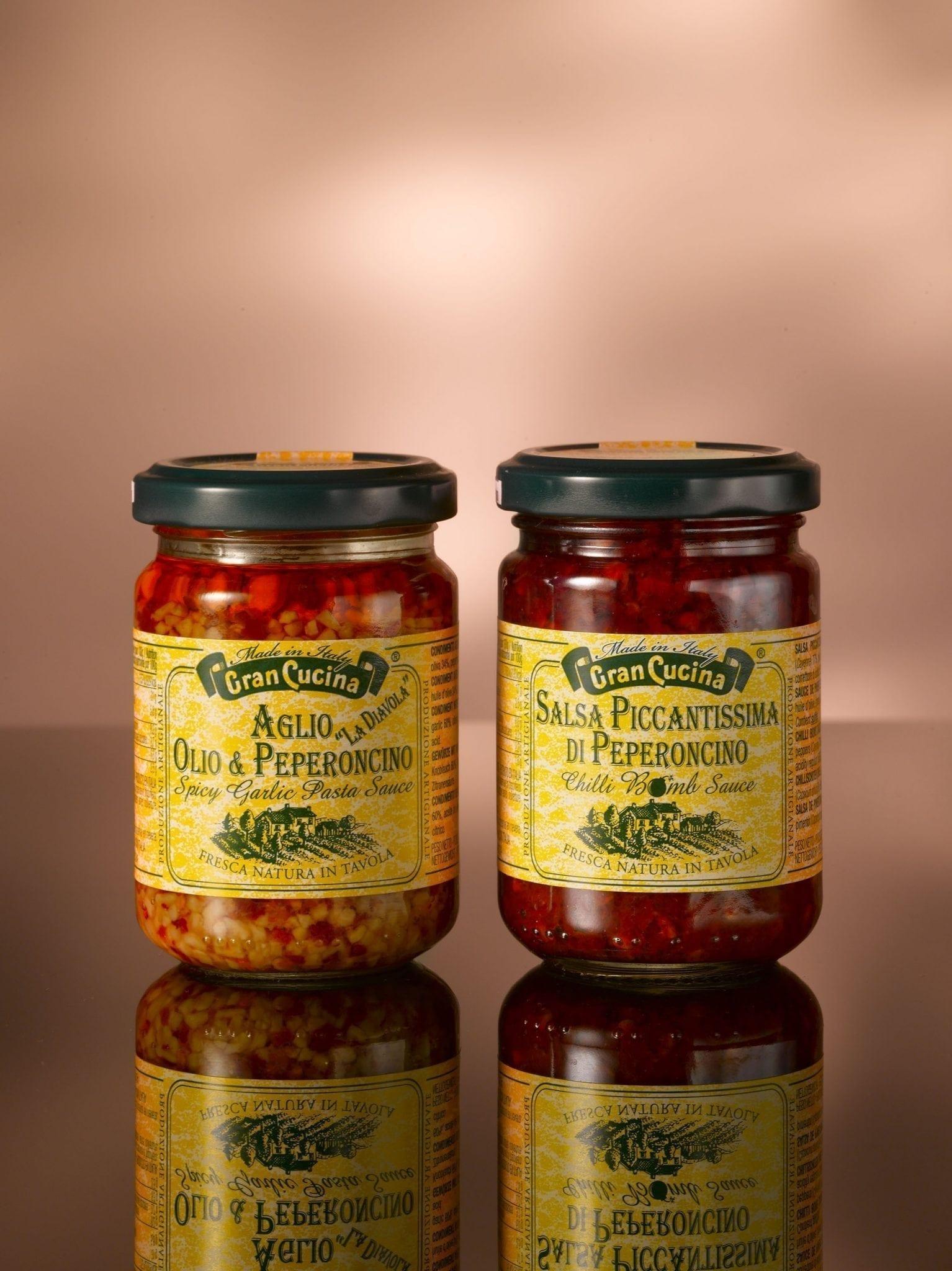 Cran Cucina, creme van  knoflook, olijfolie, chillipeper 130 gr