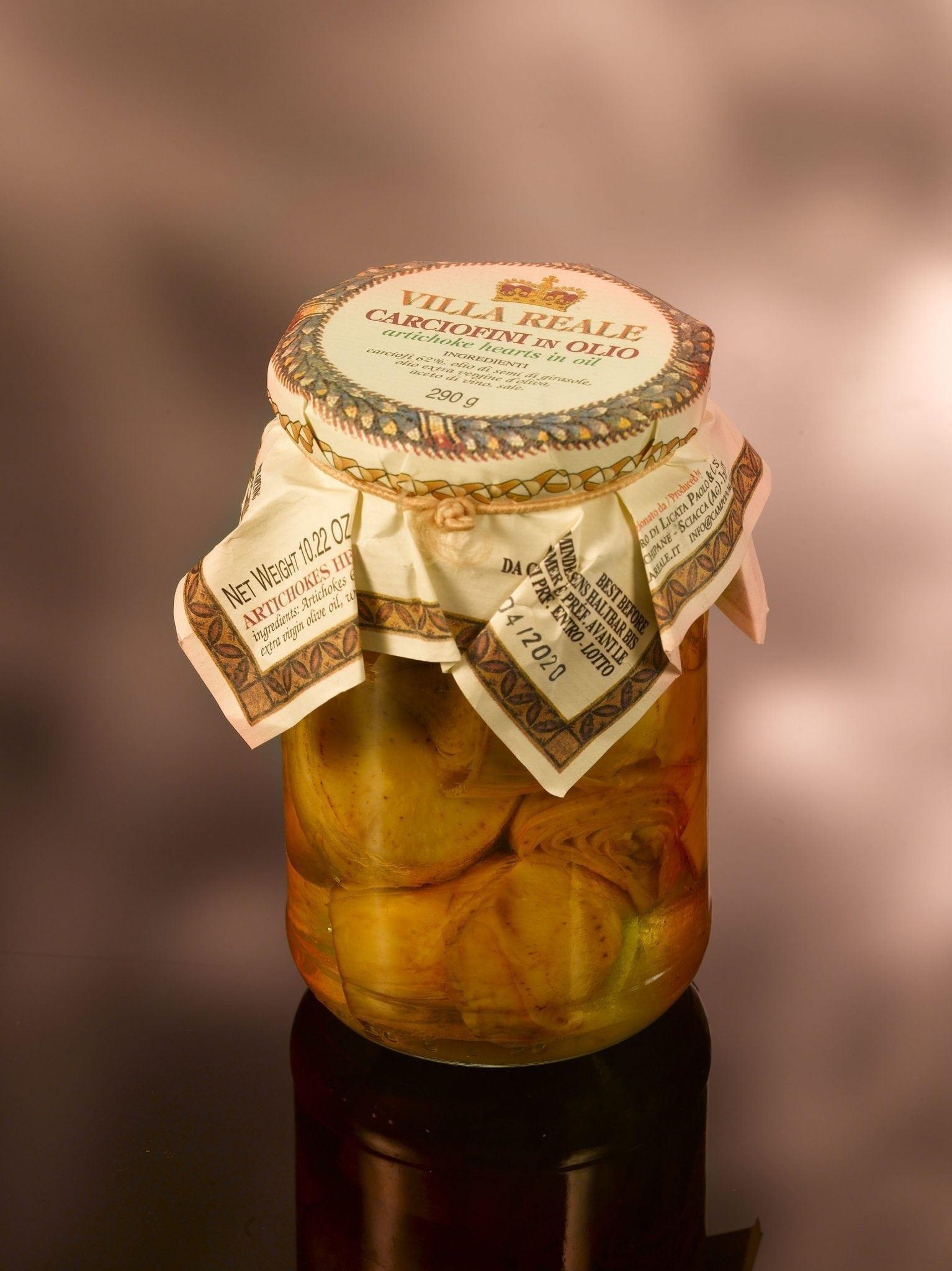 Villa reale, artichoke hearts in olive oil 290 gr