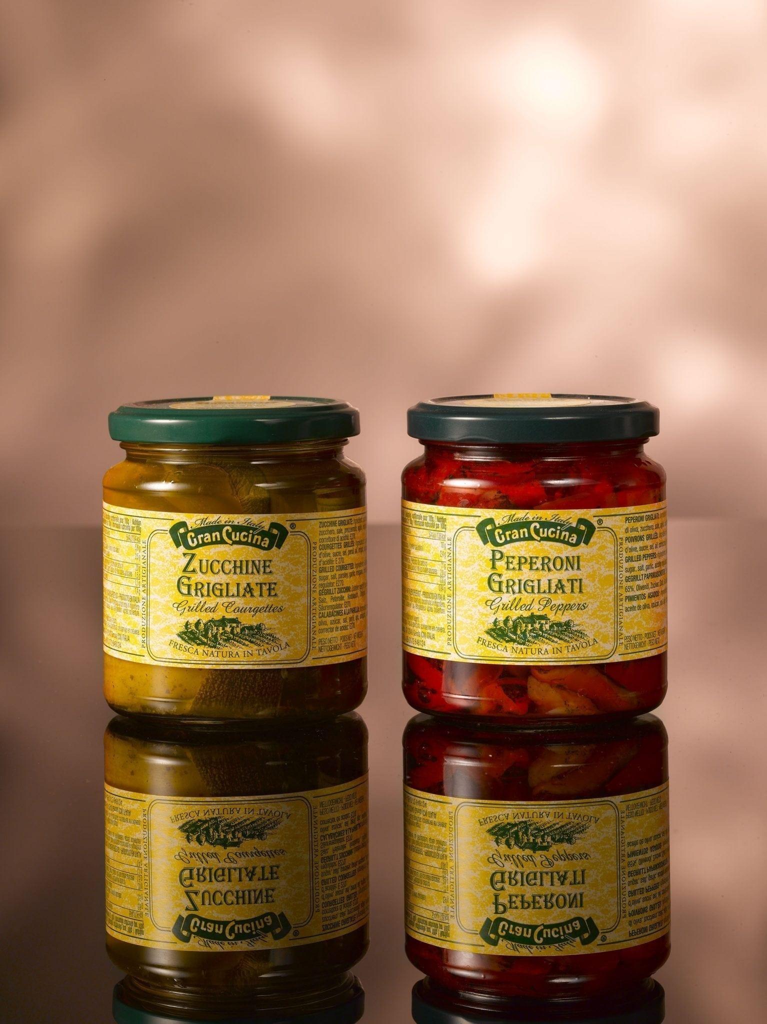Cran Cucina, Gegrilde Courgettes in schijfjes op olijfolie 280 gr