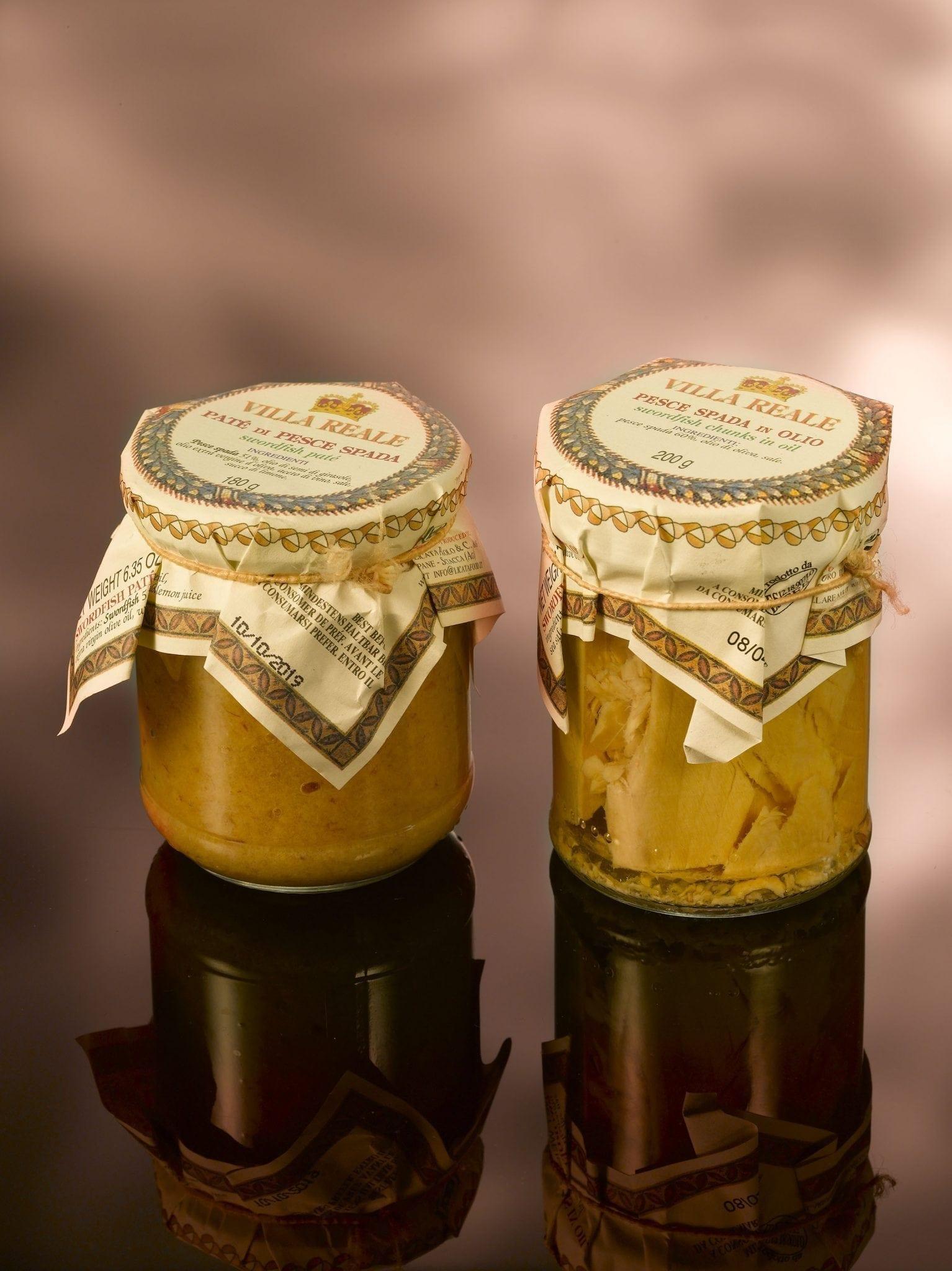 Ville Reale Sicilië, Zwaardvis filet op olijfolie 180 gr