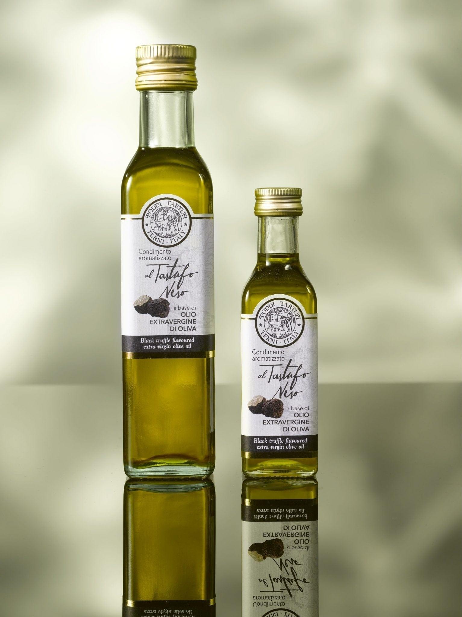 Zwarte truffel olijfolie, Poddi Tartufi 250 ml