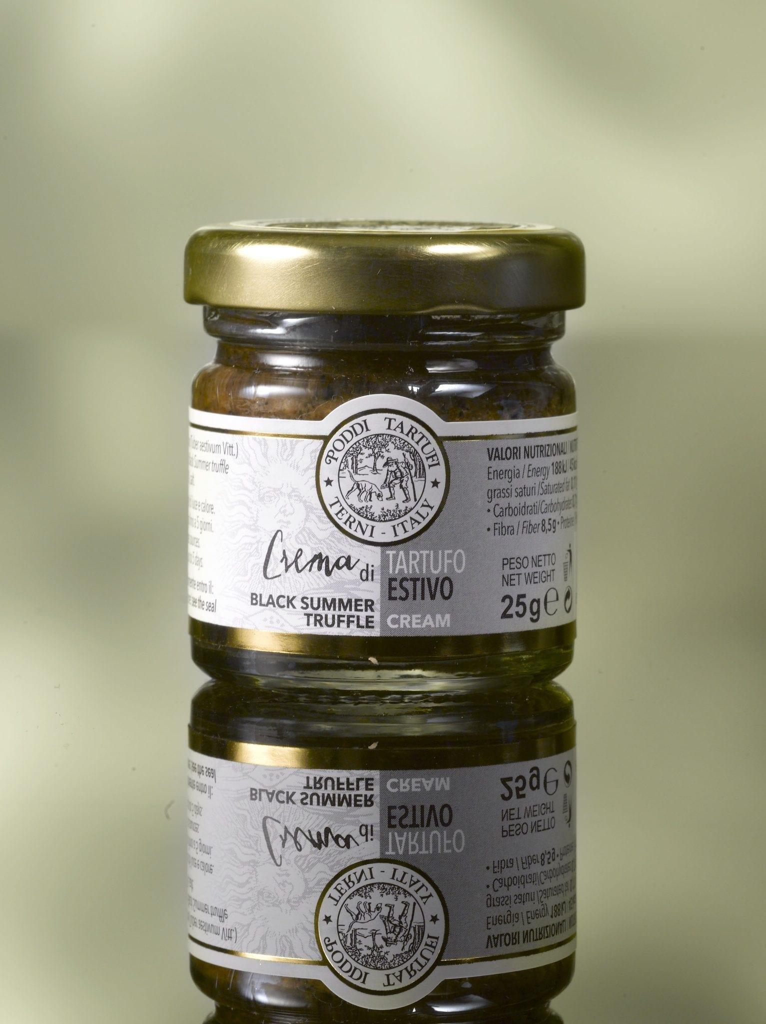 Zwarte truffel crème, Poddi Tartufi 25 gr